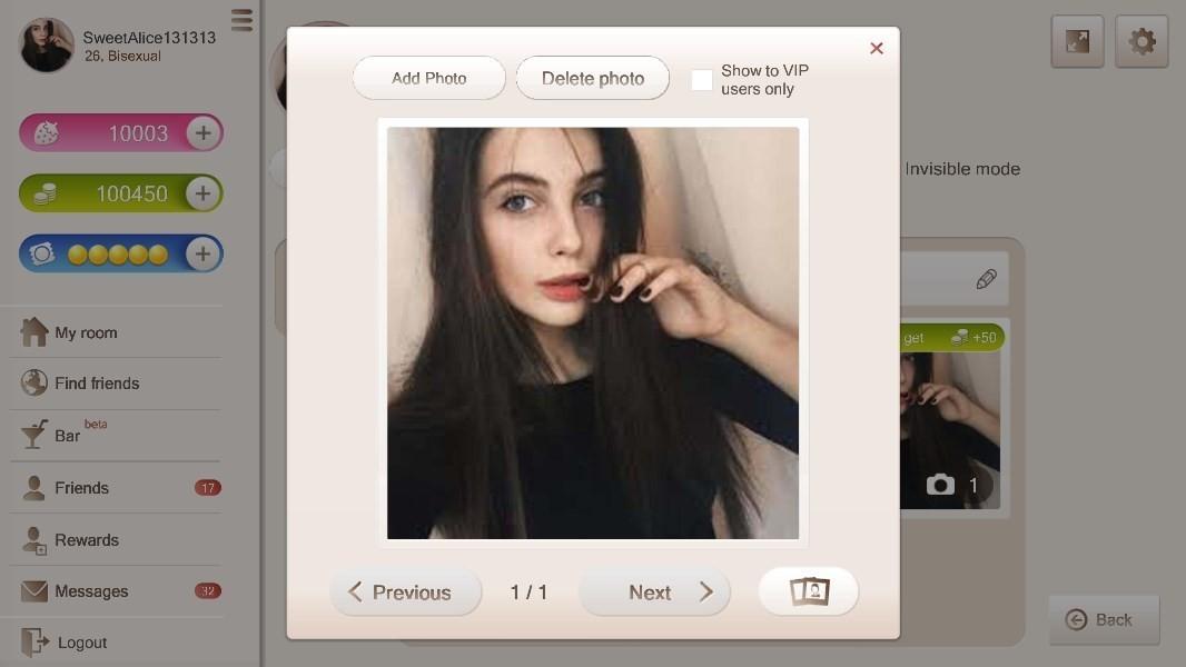 Profile photo and photos upload