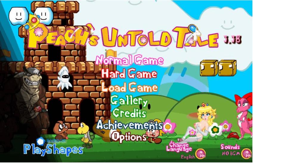 Peach's Untold Tale — online erotic flash game