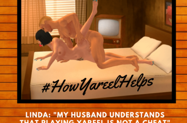 #HowYareelHelps. Linda: My husband understands that playing Yareel is not a cheat